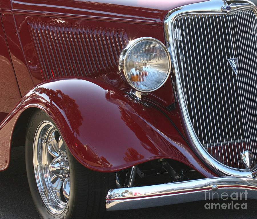 Cars Photograph - Classic Ford Car by Tap On Photo