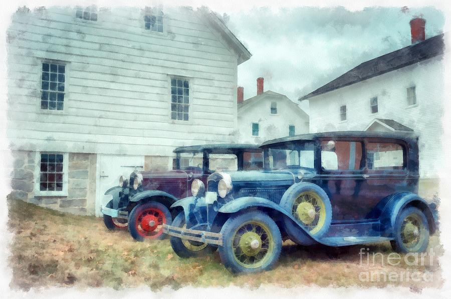 Car Photograph - Classic Ford Model A Cars by Edward Fielding