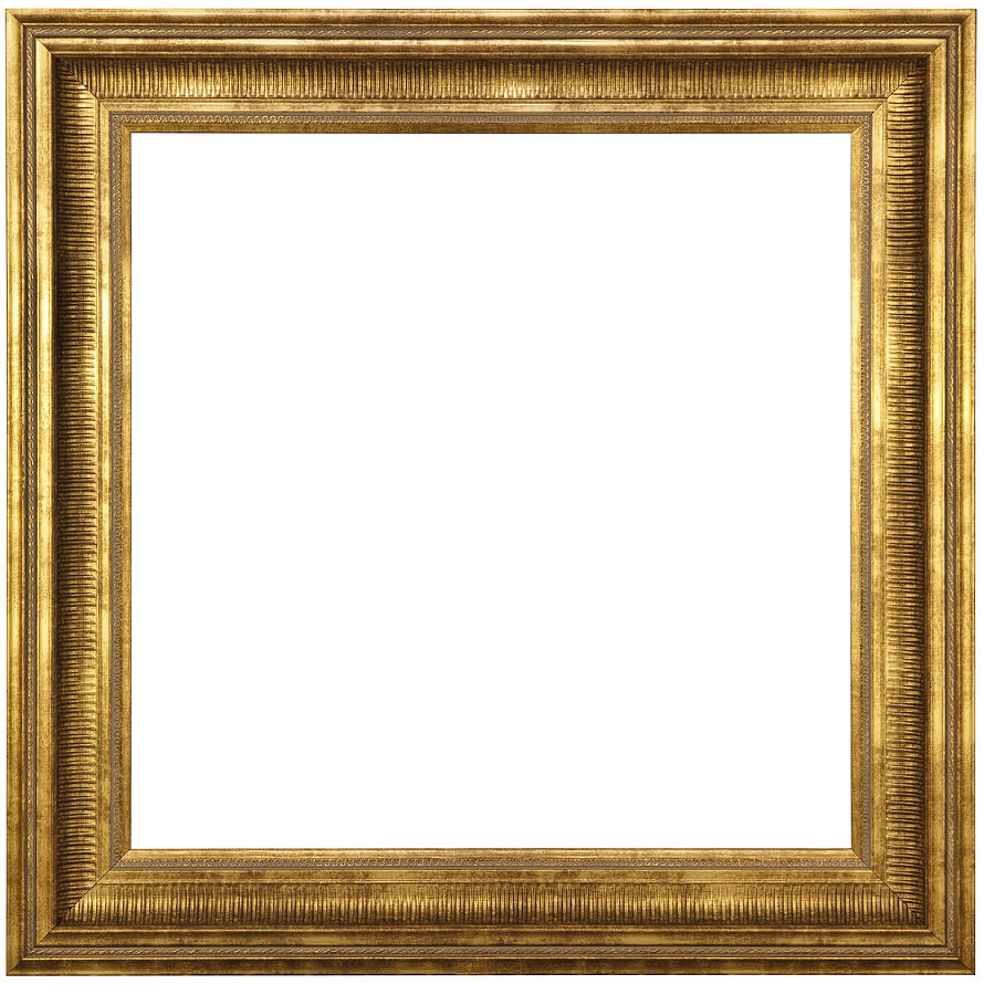 Classic Gold Picture Frame With Clipping Path Photograph by JamesBrey
