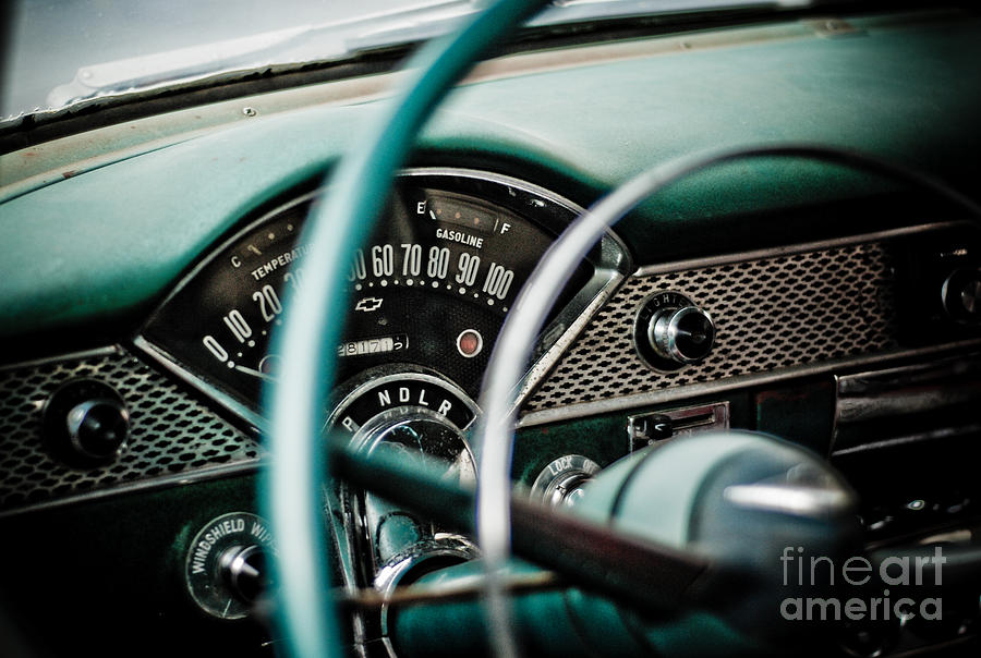 Car Photograph - Classic Interior by Jt PhotoDesign