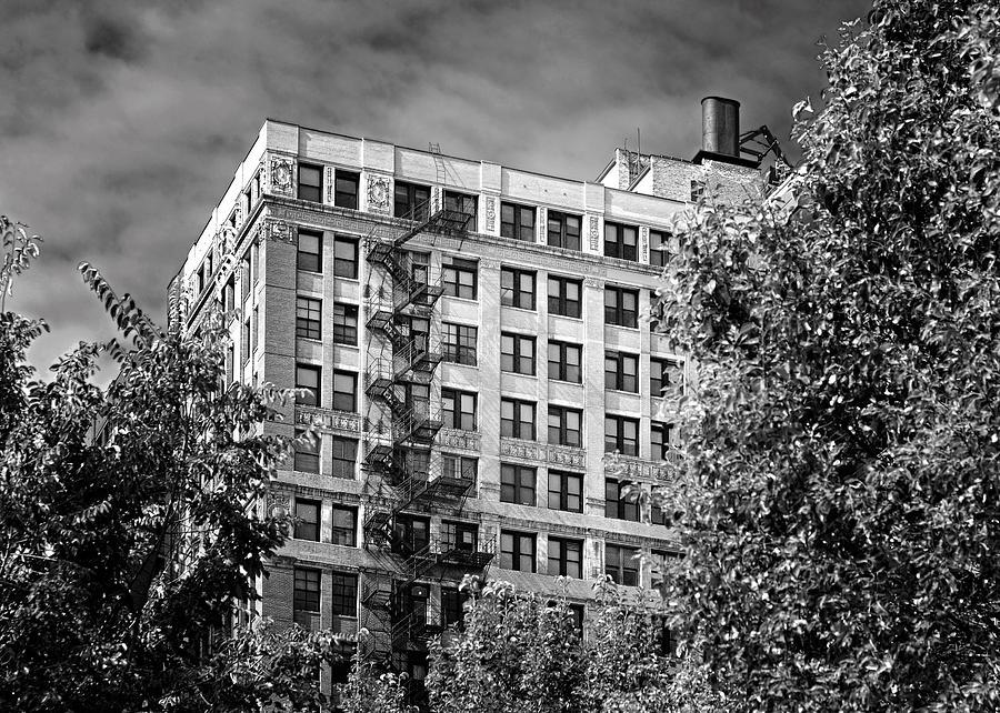 Chicago Photograph - Classic Iron Fire Escape Chicago Il by Christine Till