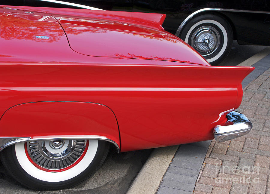 Classic Car Photograph - Classic Red And Black by Ann Horn