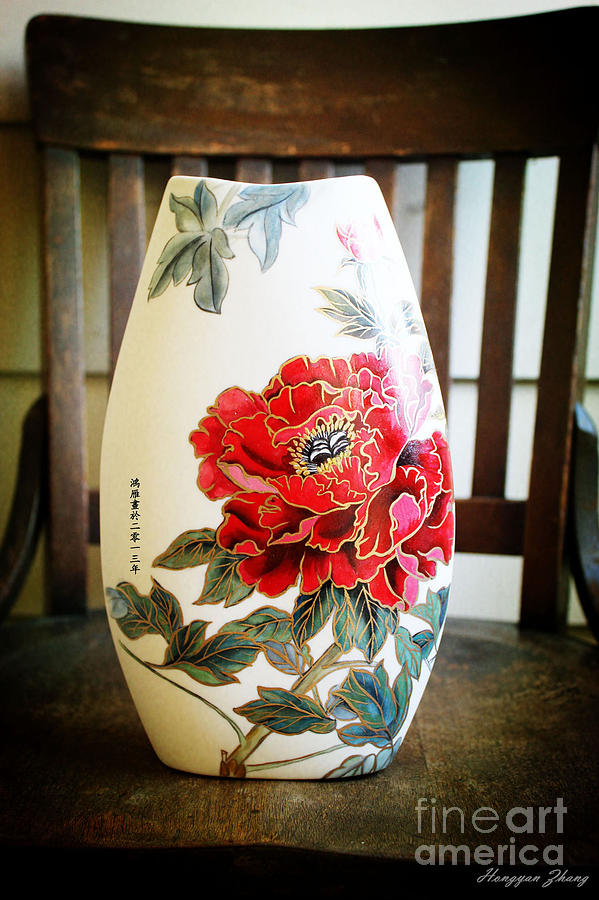 Hibiscus Flowers Ceramic Art - Classic Rich Hibiscus Flowers by Hongyan Zhang