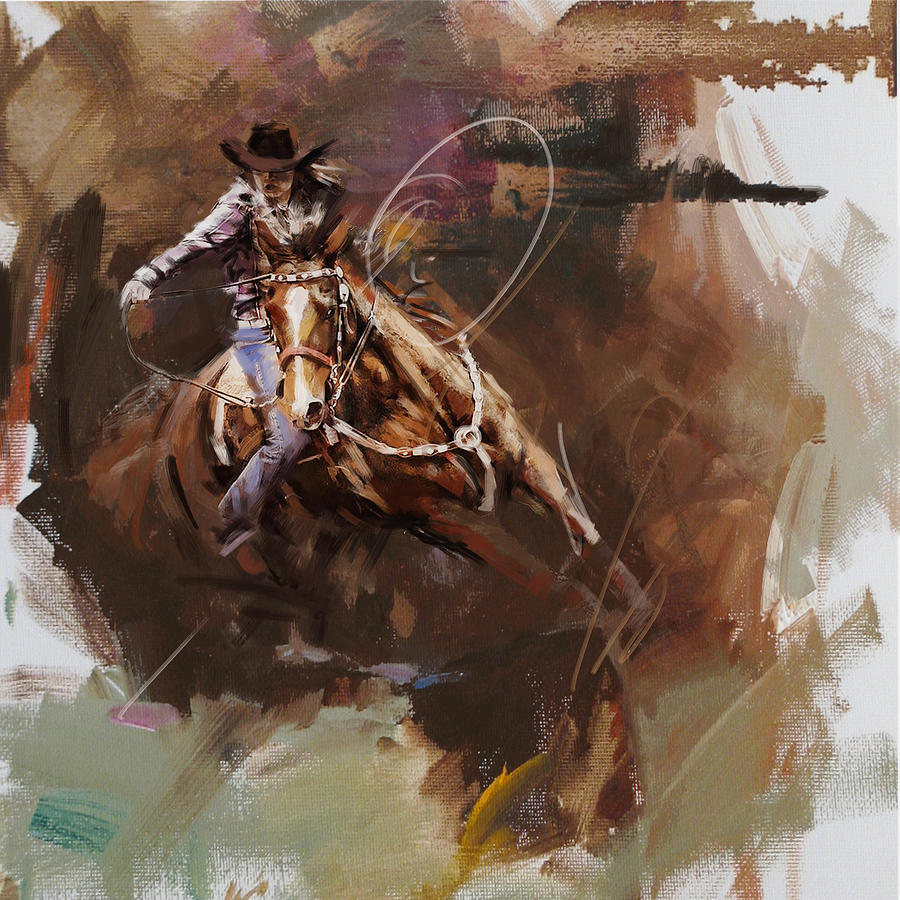 Classic Rodeo 8 Painting By Maryam Mughal
