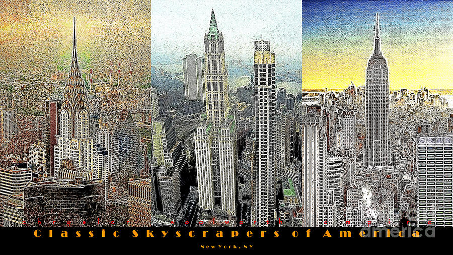 Woolworth Building Photograph - Classic Skyscrapers Of America 20130428 by Wingsdomain Art and Photography