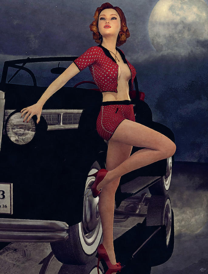 Classic Style Pin-Up by Maynard Ellis