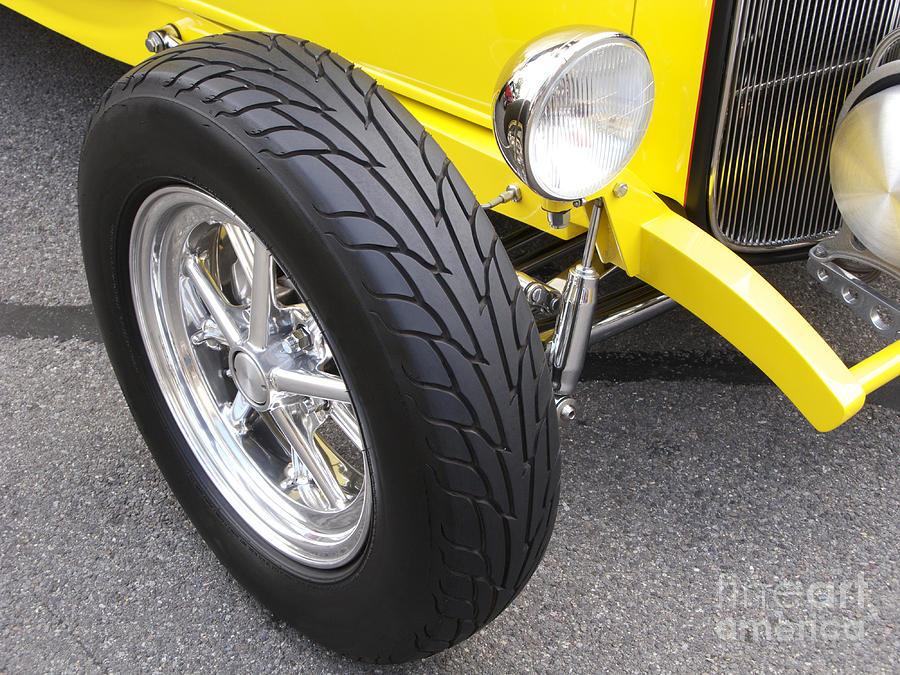 Classic Car Photograph - Classic Tire Tread by Ann Horn