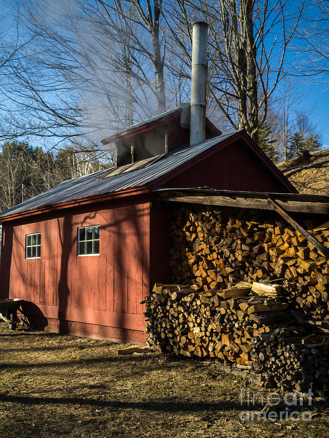 Shack Photograph - Classic Vermont Maple Sugar Shack by Edward Fielding