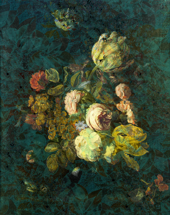 Textures Painting - Classical Bouquet - S04bt01 by Variance Collections