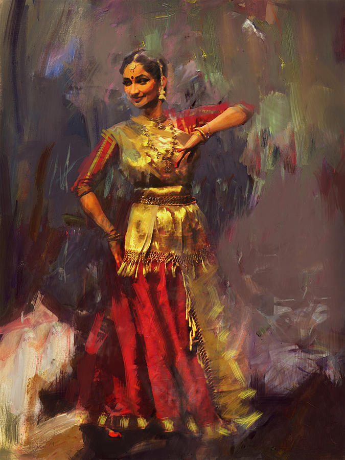 Classical Dance Art 9 Painting by Maryam Mughal