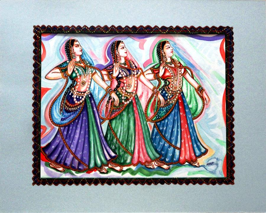 Abstract Painting - Classical Dance1 by Harsh Malik