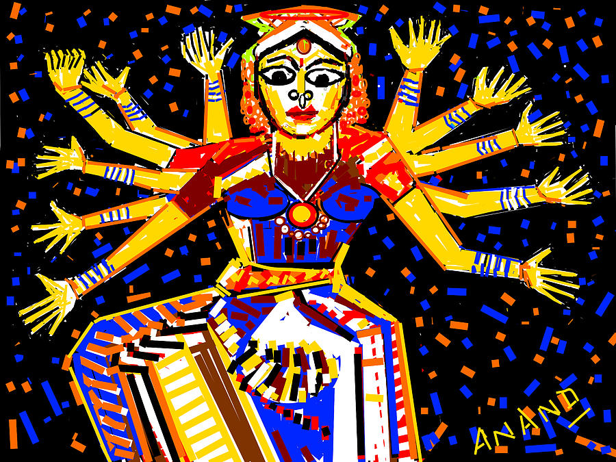 Flowers Digital Art - Classical Dancer by Anand Swaroop Manchiraju