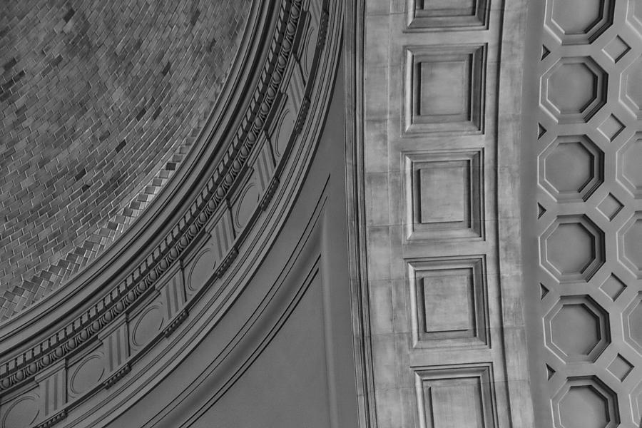 Dome Photograph - Classical Dome And Vault Detail by Lynn Palmer
