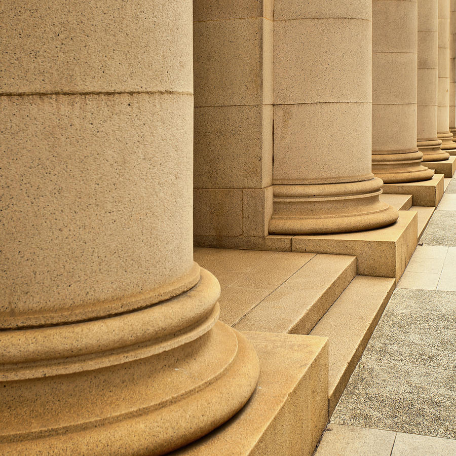 Classical Marble Columns Photograph by Ithinksky