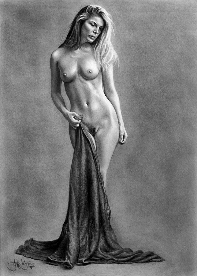 Art nude drawing