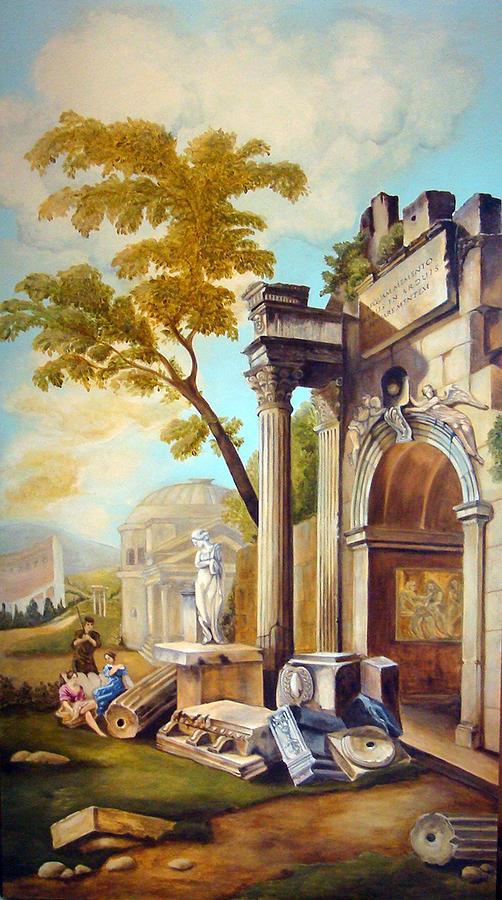Italian Ruins Painting - Classical Ruins by Teresa Carter