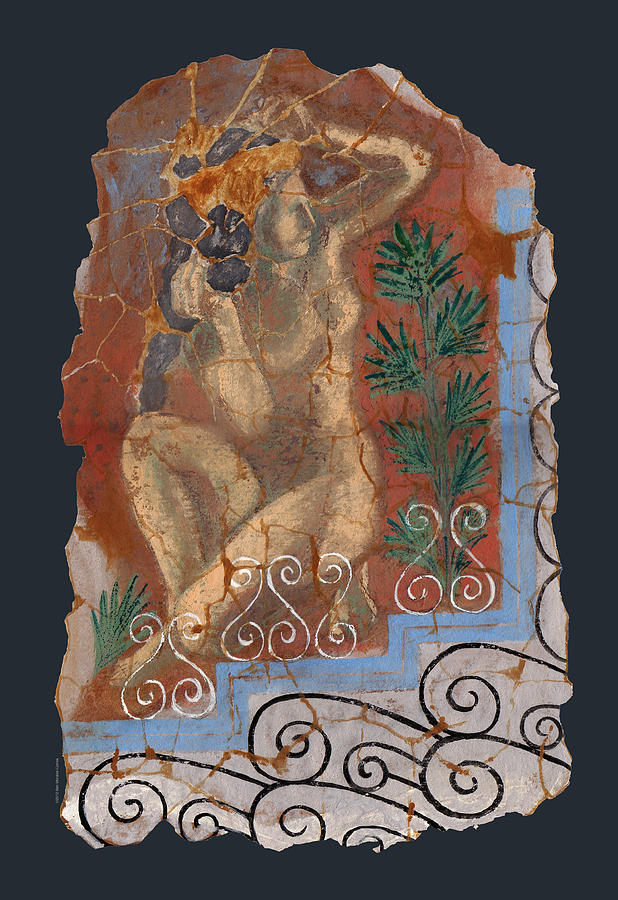 Nude Painting - Classical Wall Fragment by Ben  Morales-Correa