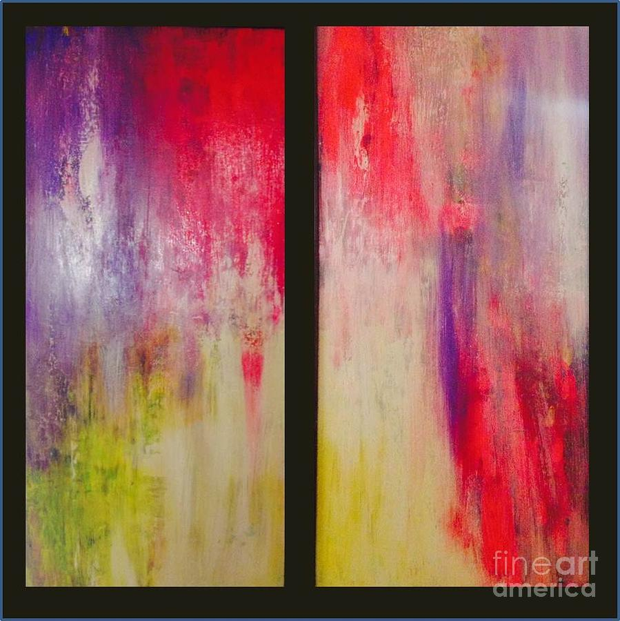 Rassouli Painting - Classy And Sassy   Diptych by Bebe Brookman