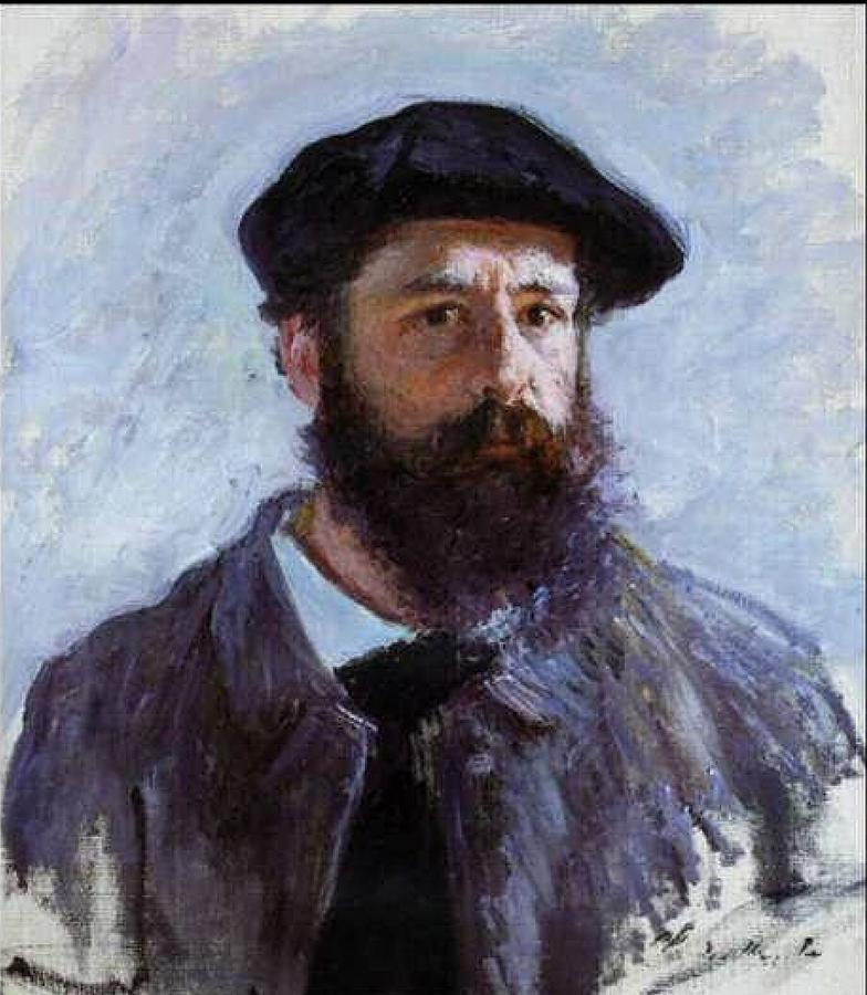 Frederic Bazille Painting - Claude Monet Self Portrait by Claude Monet - L Brown