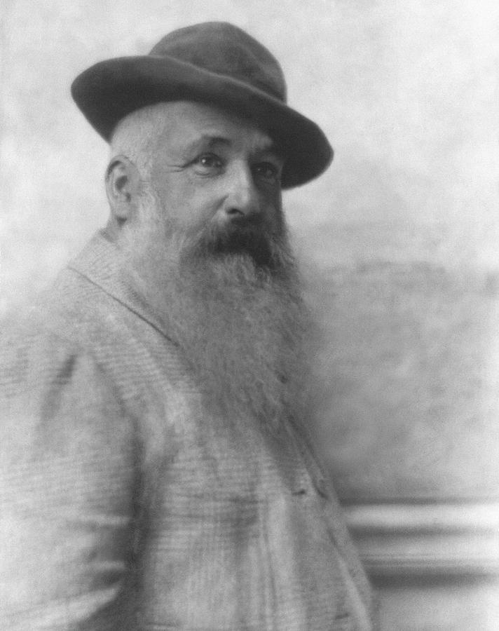 Claude Monet Wearing A Hat Photograph by Adolphe De Meyer