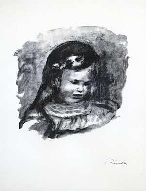 Renoir Painting - Claude Renoir La Tete Baisse by Pierre-Auguste Renoir