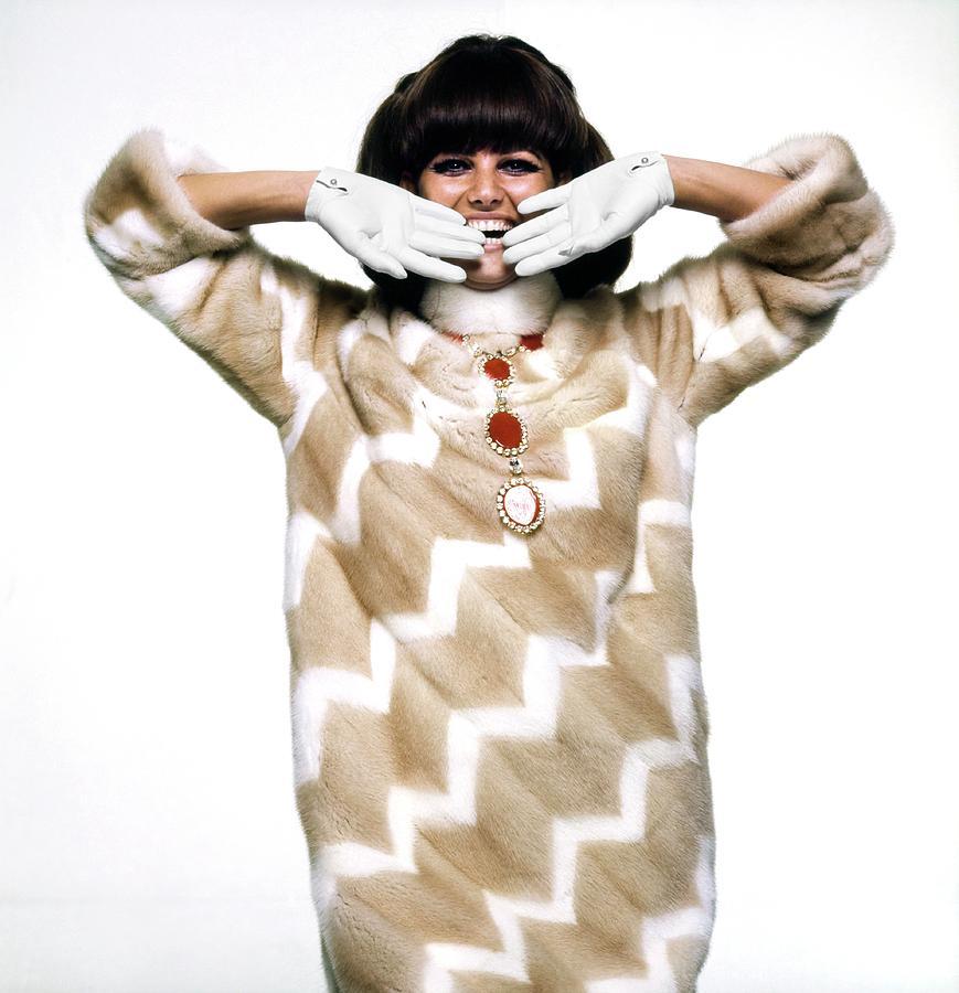Fashion Photograph - Claudia Cardinale Wearing Emeric Partos by Bert Stern