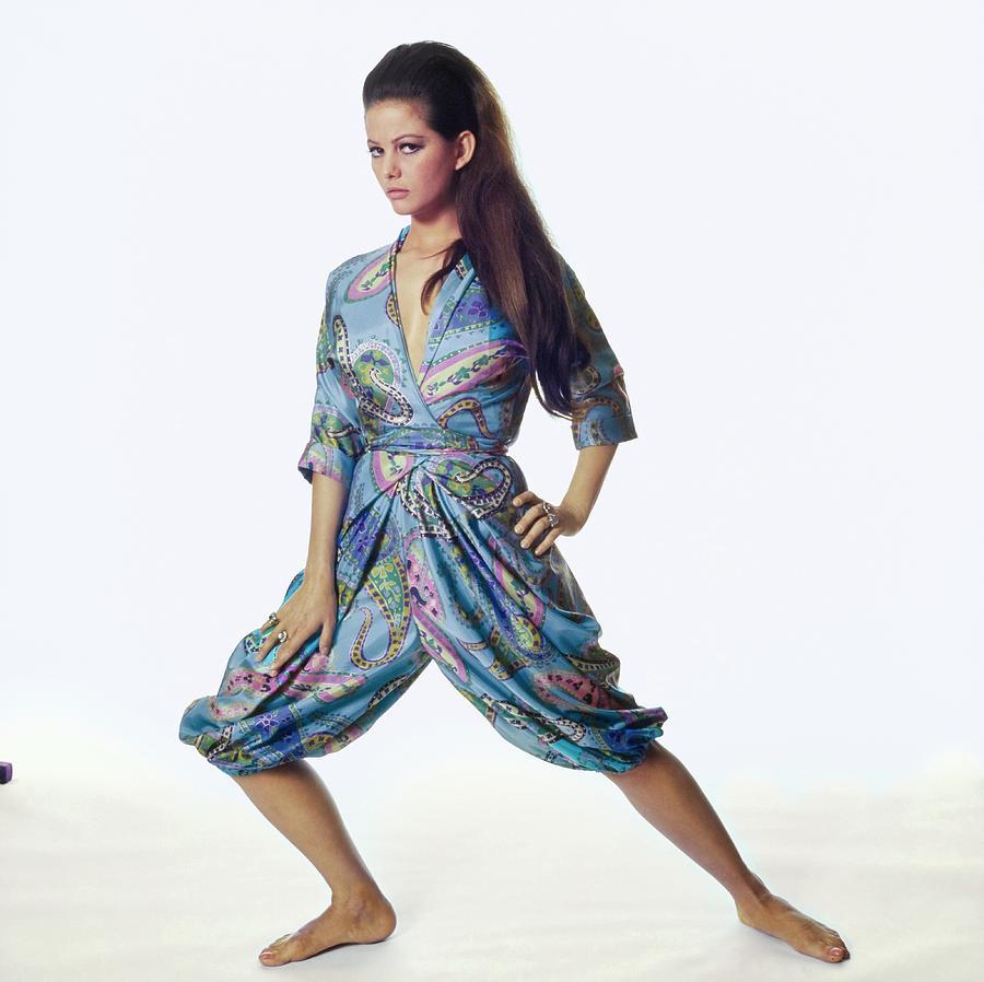 Actress Photograph - Claudia Cardinale Wearing Hollywood Vassarette by Bert Stern