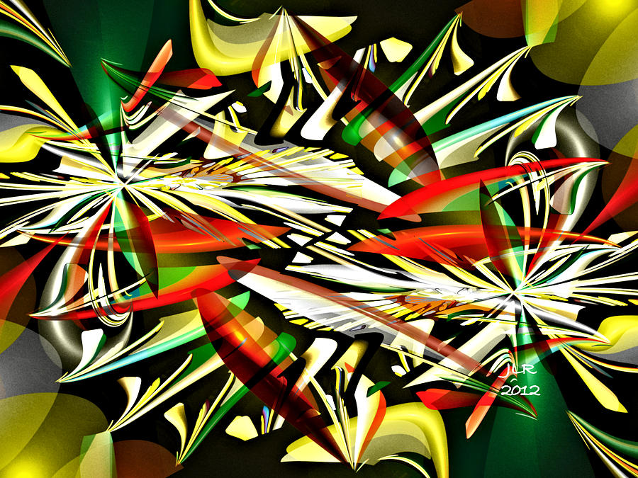 Fractal Digital Art - Claws by Janet Russell