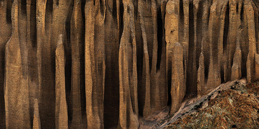Horizontal Photograph - Clay Organ Pipes Formation In Front by Panoramic Images