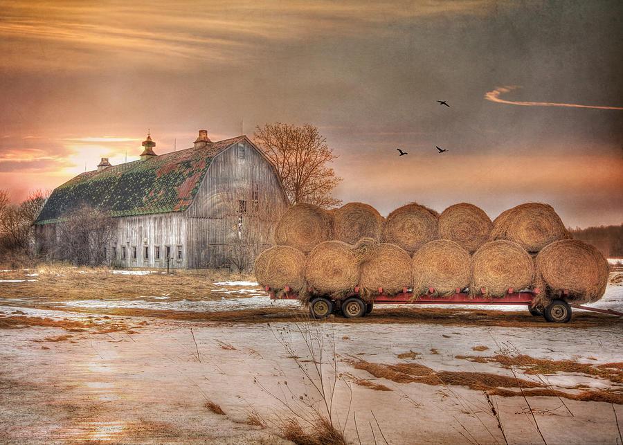 Barn Photograph - Clayton Sunset by Lori Deiter