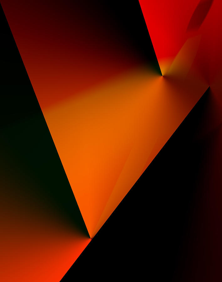 Abstract Digital Art - Clean Angled Composition by Ian  MacDonald
