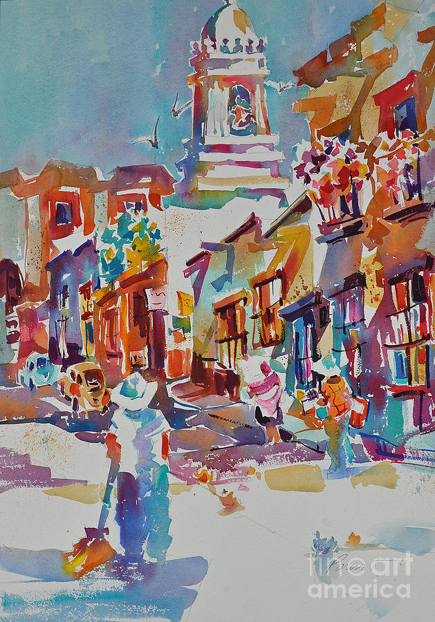 San Miguel De Allende Painting - Clean Sweep, Frank Nash Award, Transparent Watercolor Society Of America, 2015 by Roger Parent