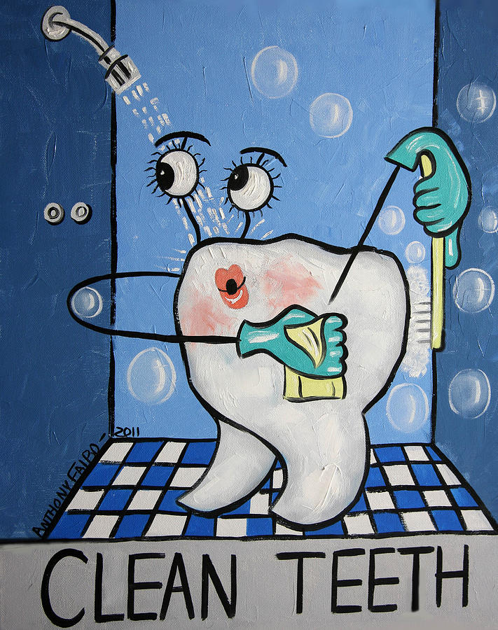 Tooth Painting - Clean Tooth by Anthony Falbo