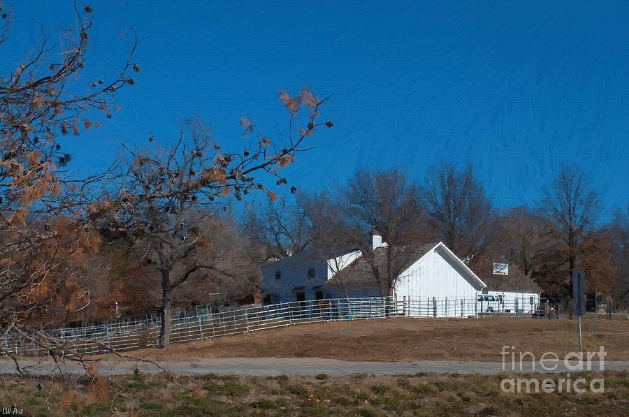 Country Painting - Clear Blue Sky - Oil On Canvas by Liane Wright