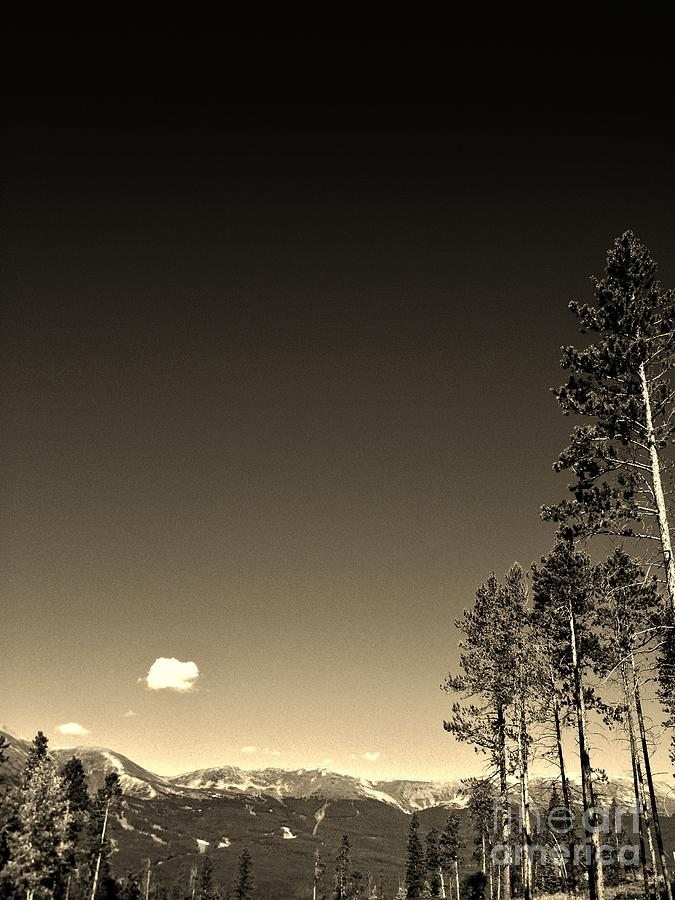 Sepia Photograph - Clear Colorado Skies by Garren Zanker