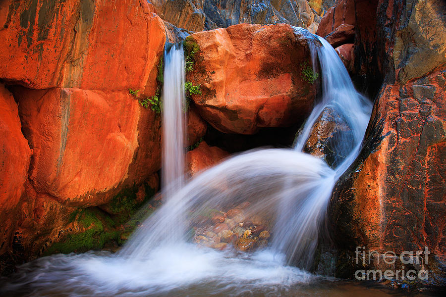 America Photograph - Clear Creek Falls by Inge Johnsson