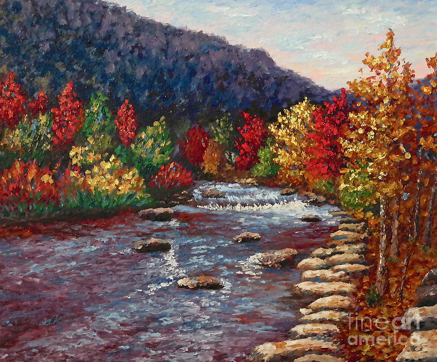 Landscape Painting - Clear Creek In Golden Colorado by Francesca Kee