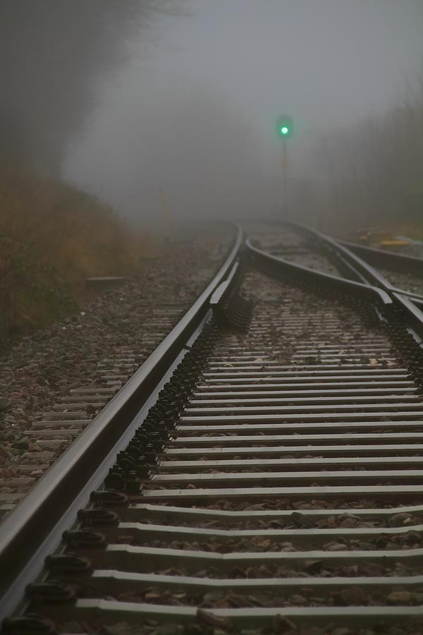 Tracks Photograph - Clear Track by Odd Jeppesen