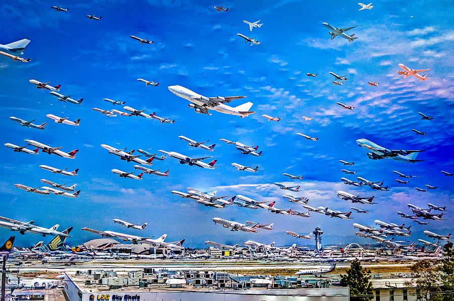 Lax Photograph - Cleared For Takeoff by Branden De Haas