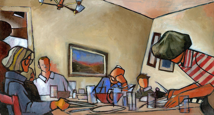 Family Painting - Clearing The Table by Douglas Simonson