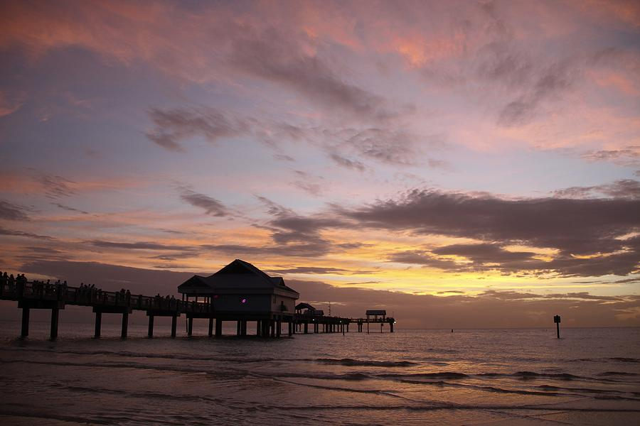 Clearwater Beach Sunset Photograph by Lori  Burrows