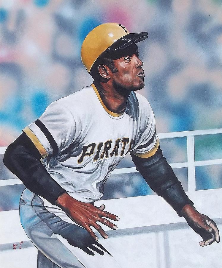 Sports Painting - Clemente by D A Nuhfer