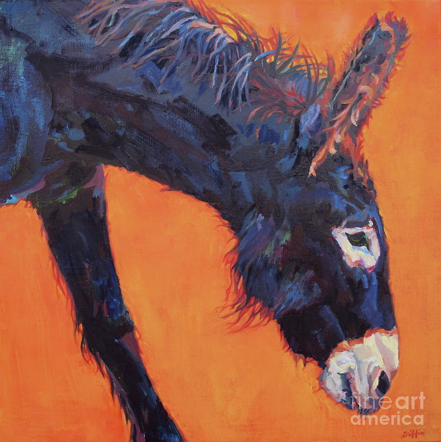 Burro Painting - Clementine by Patricia A Griffin