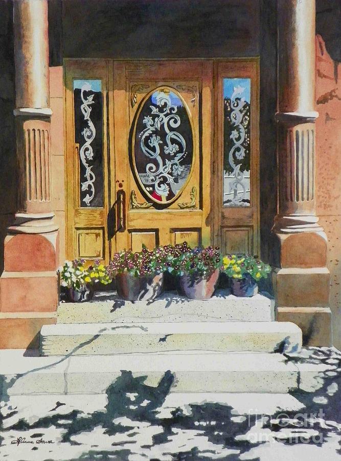 Doors Painting - Clementines Door by LeAnne Sowa