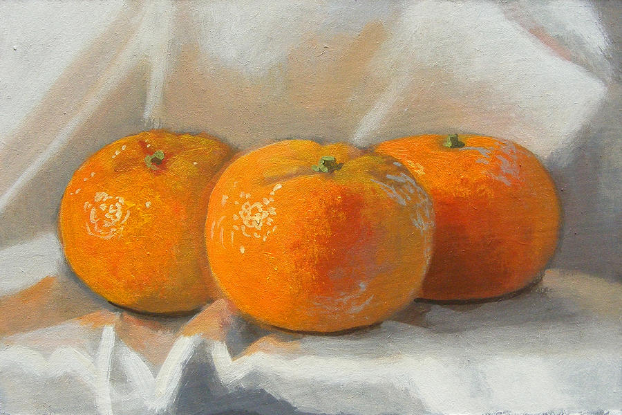 Clementines Painting - Clementines by Peter Orrock