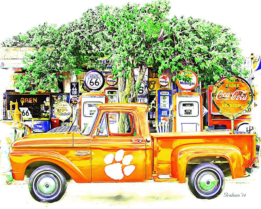 Clemson Tigers Vintage Fan Art Mixed Media By Dwayne Graham