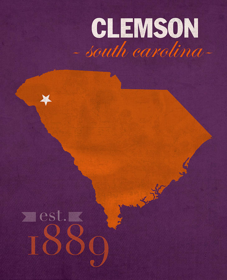 Clemson University Tigers College Town South Carolina