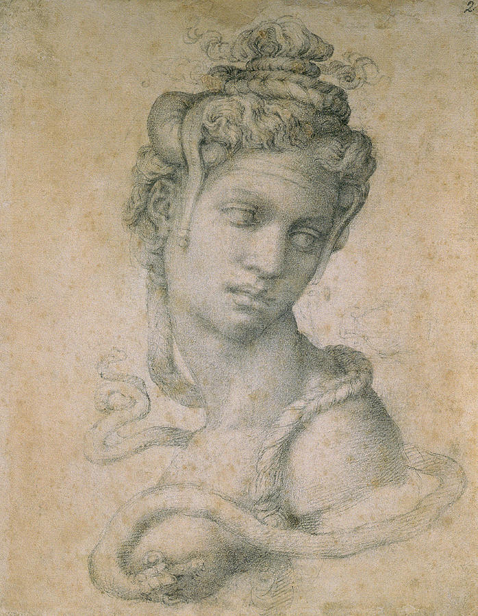 Drawing Drawing - Cleopatra by Michelangelo