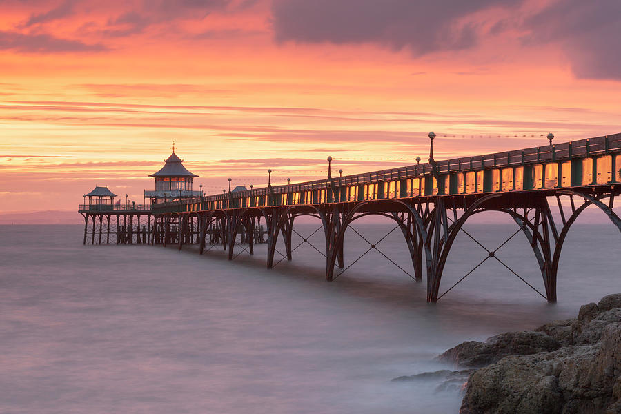 Clevedon Pier In Somerset, England Photograph by Nick Cable
