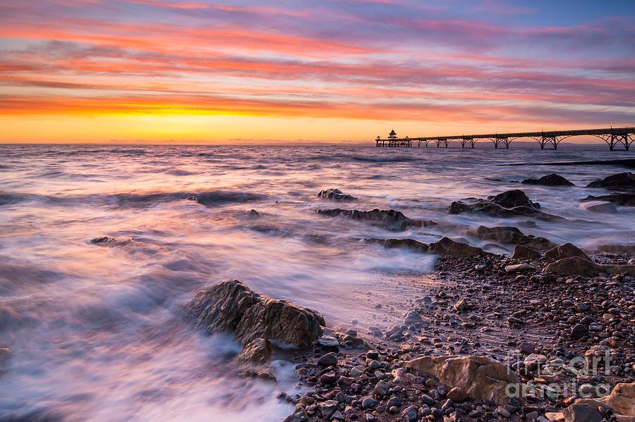 Clevedon Photograph - Clevedon Sunset by Daugirdas Racys